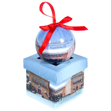 Baseball Hall of Fame Decoupage Ornament