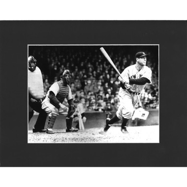 Matted 8x10 Photo- Lou Gehrig Batting