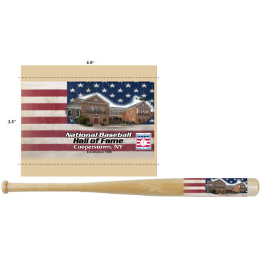 Baseball Hall of Fame Flag 18 inch Mini Bat