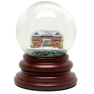 Baseball Hall of Fame Resin Building Glass Snow Globe