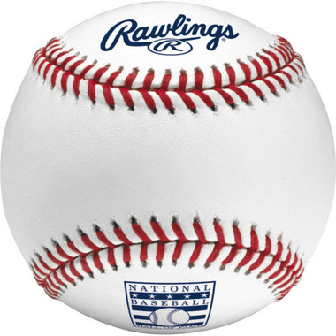 Rawlings Baseball Hall of Fame Logo MLB Official Game Baseball with Display Case