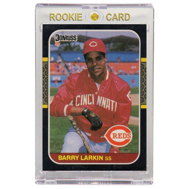 Barry Larkin Cincinnati Reds 1987 Donruss # 492 Rookie Card