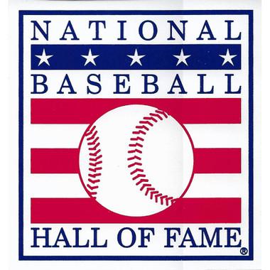 Baseball Hall of Fame Logo 3 x 3 Decal