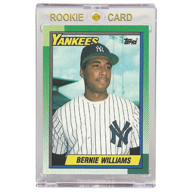 Bernie Williams New York Yankees 1990 Topps # 701 Rookie Card
