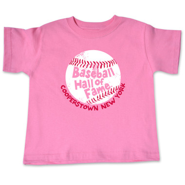 Toddler Baseball Hall of Fame Pink Baseball T-Shirt