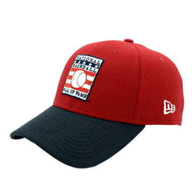 Men's New Era Baseball Hall of Fame Red/Navy Batting Practice 39THIRTY Flex Fit Cap