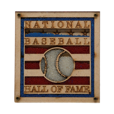 Baseball Hall of Fame Beaded Logo Magnet