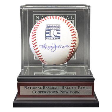 Reggie Jackson Autographed Hall of Fame Logo Baseball with Case (MLB/Fanatics)