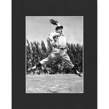 Matted 8x10 Photo- Yogi Berra Catching