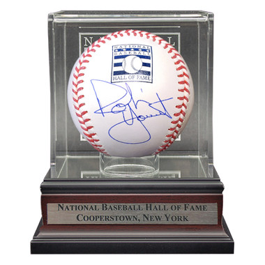 Robin Yount Autographed Hall of Fame Logo Baseball with Case (JSA)