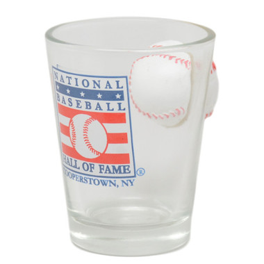Baseball Hall of Fame Baseball Impact Shot Glass