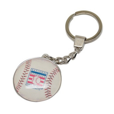 Baseball Hall of Fame Logo Acrylic Baseball Key Chain