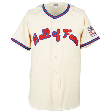 Men's Ebbets Field Flannels Baseball Hall of Fame Cream Jersey