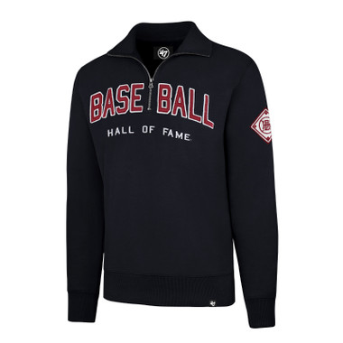 Men's '47 Brand Baseball Hall of Fame Navy Borderland Quarter Zip
