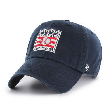 Men's Baseball Hall of Fame Navy Logo Clean Up Adjustable Cap