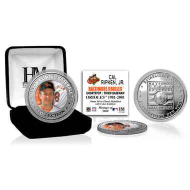 Highland Mint Cal Ripken Jr. Baltimore Orioles Hall of Fame Silver Photo Coin