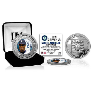 Highland Mint Ken Griffey Jr. Seattle Mariners Hall of Fame Silver Photo Coin