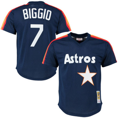 Men's Mitchell & Ness Craig Biggio 1991 Houston Astros Batting Practice Cooperstown Jersey