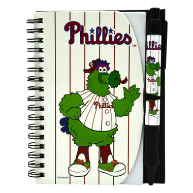 Philadelphia Phillies Phanatic Mascot Deluxe Hardcover 4x6 Notebook & Grip Pen Set
