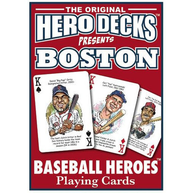 Hero Decks Caricature Playing Cards For Boston Red Sox Fans