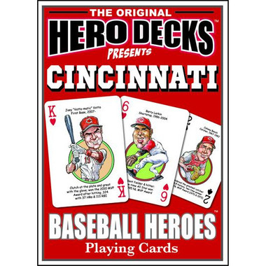 Hero Decks Caricature Playing Cards For Cincinnati Reds Fans