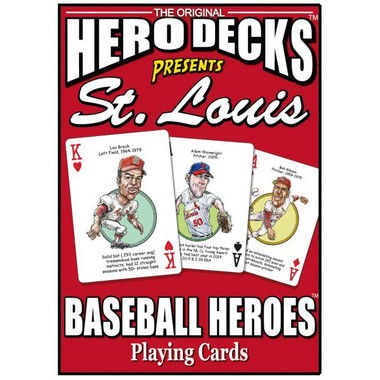 Hero Decks Caricature Playing Cards For St. Louis Cardinals Fans