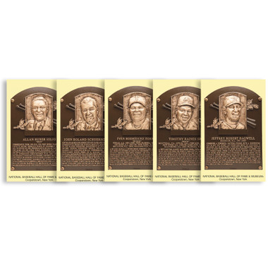 Class of 2017 Baseball Hall of Fame Plaque Postcard Set of 5 (Bagwell, Raines, Rodriguez, Schuerholz, Selig)