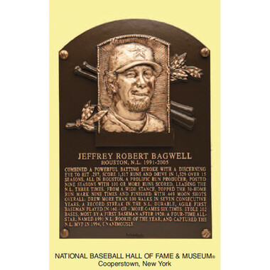 Jeff Bagwell Baseball Hall of Fame Plaque Postcard