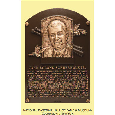 John Schuerholz Baseball Hall of Fame Plaque Postcard