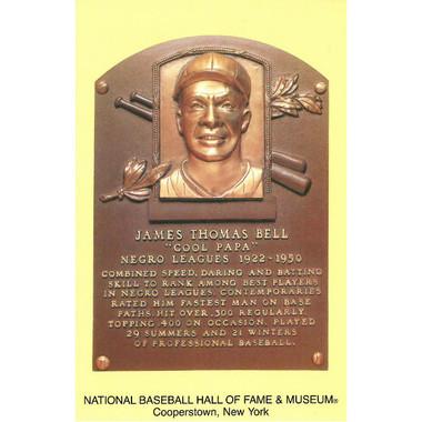 Cool Papa Bell Baseball Hall of Fame Plaque Postcard