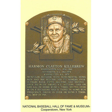 Harmon Killebrew Baseball Hall of Fame Plaque Postcard