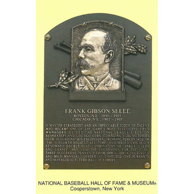 Frank Selee Baseball Hall of Fame Plaque Postcard