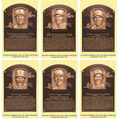 Class of 2018 Baseball Hall of Fame Plaque Postcard Set of 6 (Guerrero, Hoffman, Jones, Morris, Thome, Trammell)