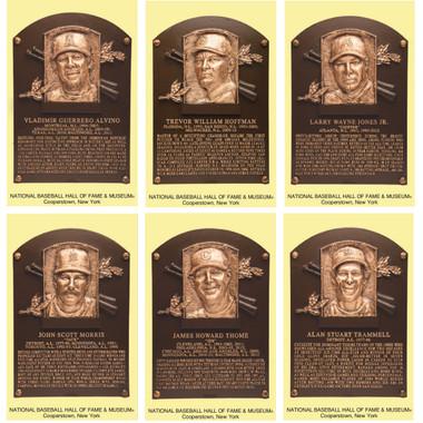 Class of 2018 Baseball Hall of Fame Plaque Postcard Set of 6 (Guerrero, Hoffman, Jones, Morris, Thome, Trammell)