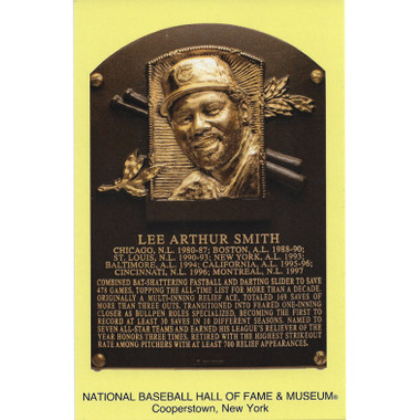 Lee Smith Baseball Hall of Fame Plaque Postcard