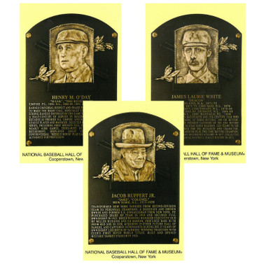 Class of 2013 Baseball Hall of Fame Plaque Postcard Set of 3 (O'Day, Ruppert, White)