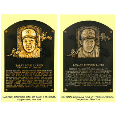 Class of 2012 Baseball Hall of Fame Plaque Postcard Set of 2 (Larkin, Santo)
