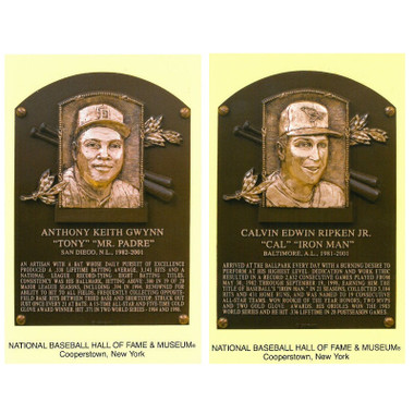 Class of 2007 Baseball Hall of Fame Plaque Postcard Set of 2 (Gwynn, Ripken)