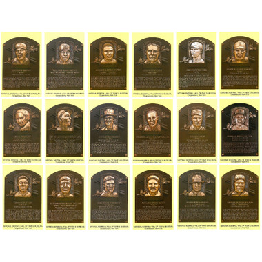 Class of 2006 Baseball Hall of Fame Plaque Postcard Set of 18