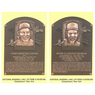 Class of 2003 Baseball Hall of Fame Plaque Postcard Set of 2 (Carter, Murray)