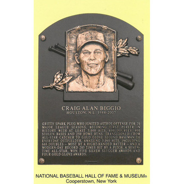 Craig Biggio Baseball Hall of Fame Plaque Postcard