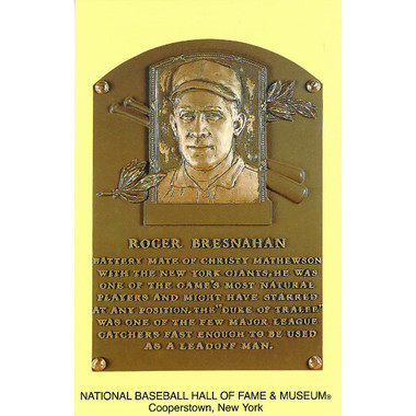 Roger Bresnahan Baseball Hall of Fame Plaque Postcard