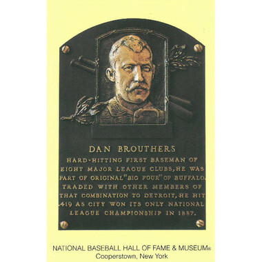 Dan Brouthers Baseball Hall of Fame Plaque Postcard