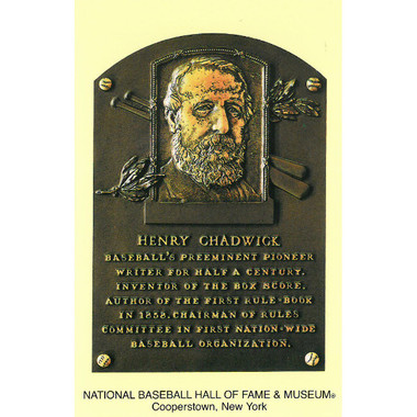 Henry Chadwick Baseball Hall of Fame Plaque Postcard