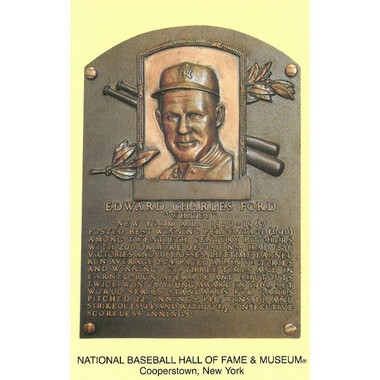 Whitey Ford Baseball Hall of Fame Plaque Postcard