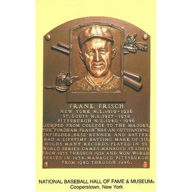 Frankie Frisch Baseball Hall of Fame Plaque Postcard