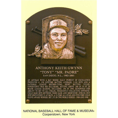 Tony Gwynn Baseball Hall of Fame Plaque Postcard