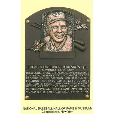 Brooks Robinson Baseball Hall of Fame Plaque Postcard