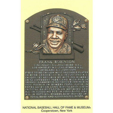 Frank Robinson Baseball Hall of Fame Plaque Postcard
