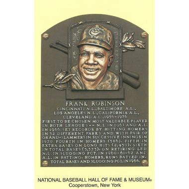 Frank Robinson Baseball Hall of Fame Plaque Postcard